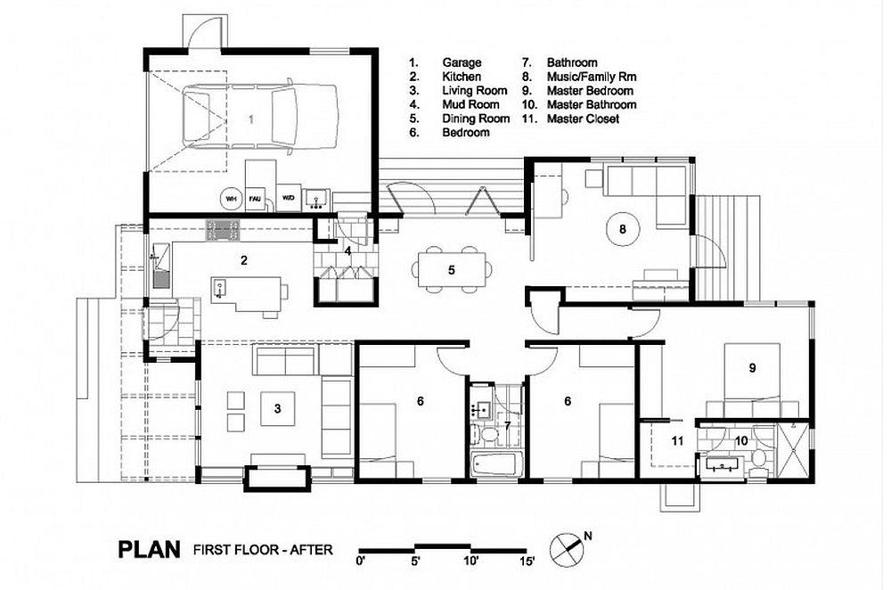 Planul de extindere al casei conceput de Ana Williamson
