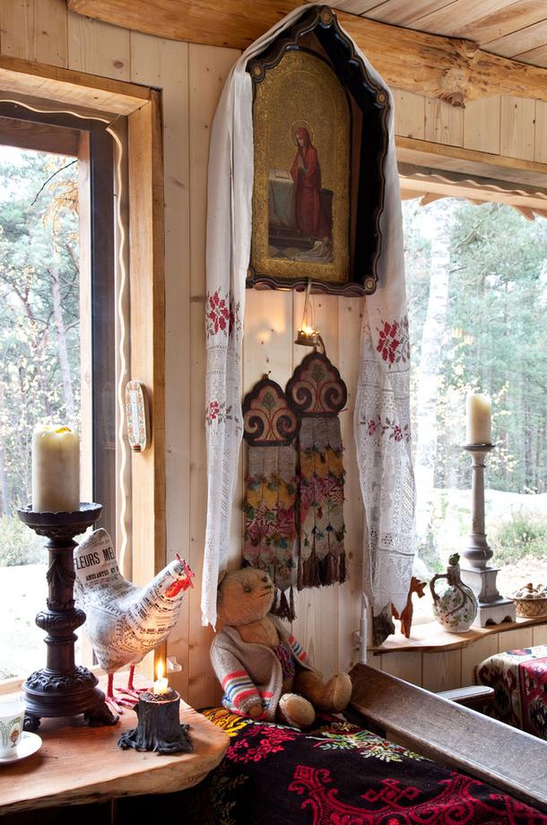 adelaparvu.com despre casa rustica ruseasca, proprietar  si designer Dominique de Rokmorel-Golitsyna, Foto Architectural Digest (21)