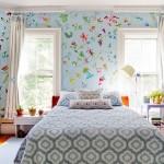 adelaparvu.com despre casa veche de artisti din Boston cu pereti pictati cu flori, Foto Rikki Snyder (1)