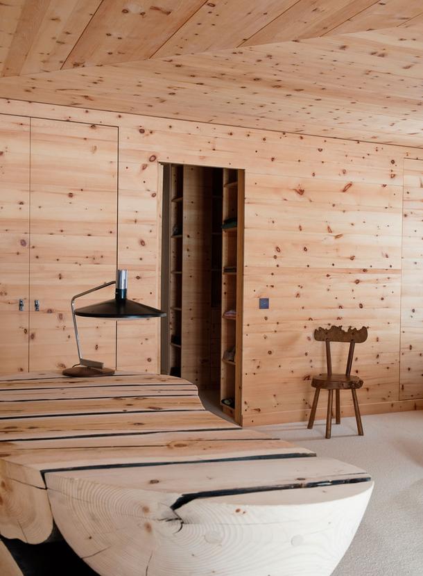 adelaparvu.com despre chalet Elvetia decor rustic modern, designer Tino Zervudachi  (13)