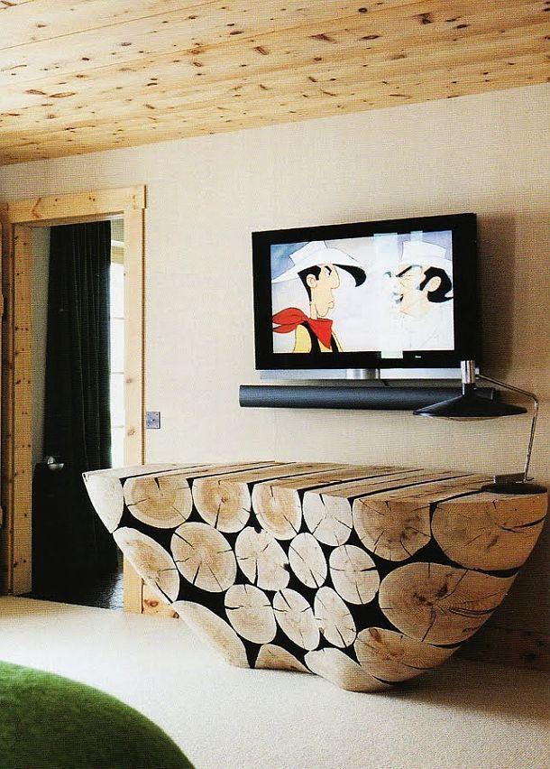 adelaparvu.com despre chalet Elvetia decor rustic modern, designer Tino Zervudachi  (17)