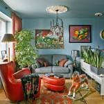 adelaparvu.com despre garsoniera mica si colorata, 37 mp in Moscova, Rusia, designer interior Irina Dimova, Foto AD Russia (3)