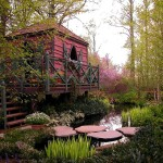 adelaparvu.com despre gradina cu iaz si casuta de lemn, Foto Cross River Design1