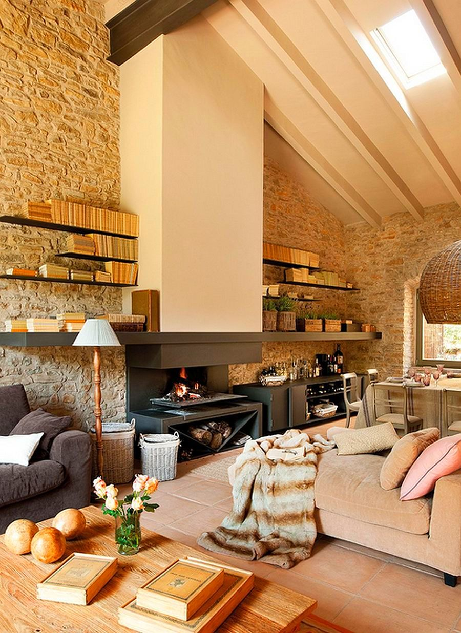 adelaparvu.com despre grajd transformat in casa, casa din piatra in Catalonia, Spania, Foto ElMueble (6)