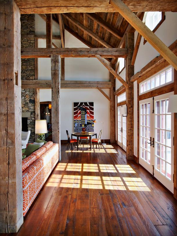 adelaparvu.com despre hambar transformat in locuinta contemporana, casa americana, design interior John Barman (6)