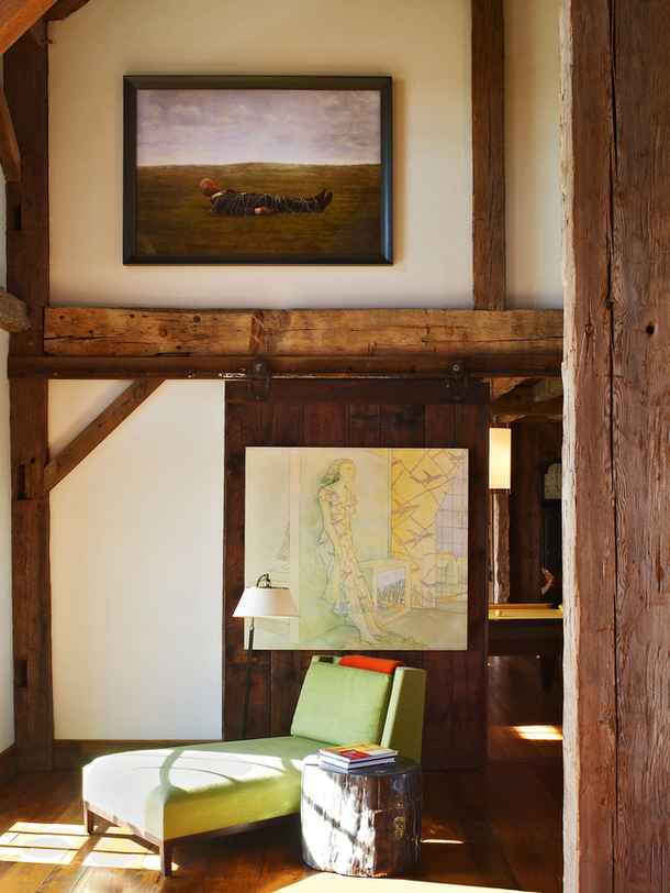 adelaparvu.com despre hambar transformat in locuinta contemporana, casa americana, design interior John Barman (7)