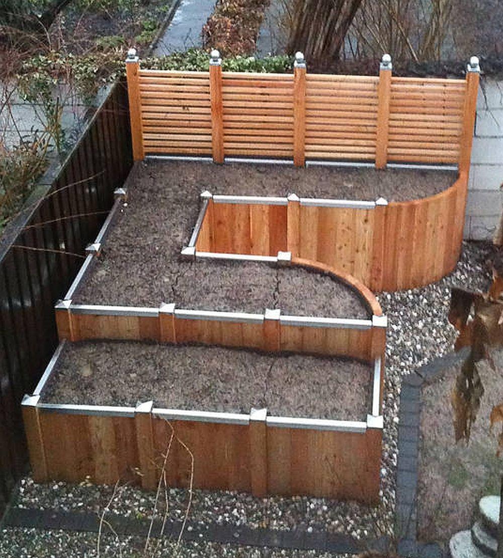 Construire Jardiniere Beton Top Dcoration Jardin Pas Cher Faire Soimme U Ides En Bton Coul With