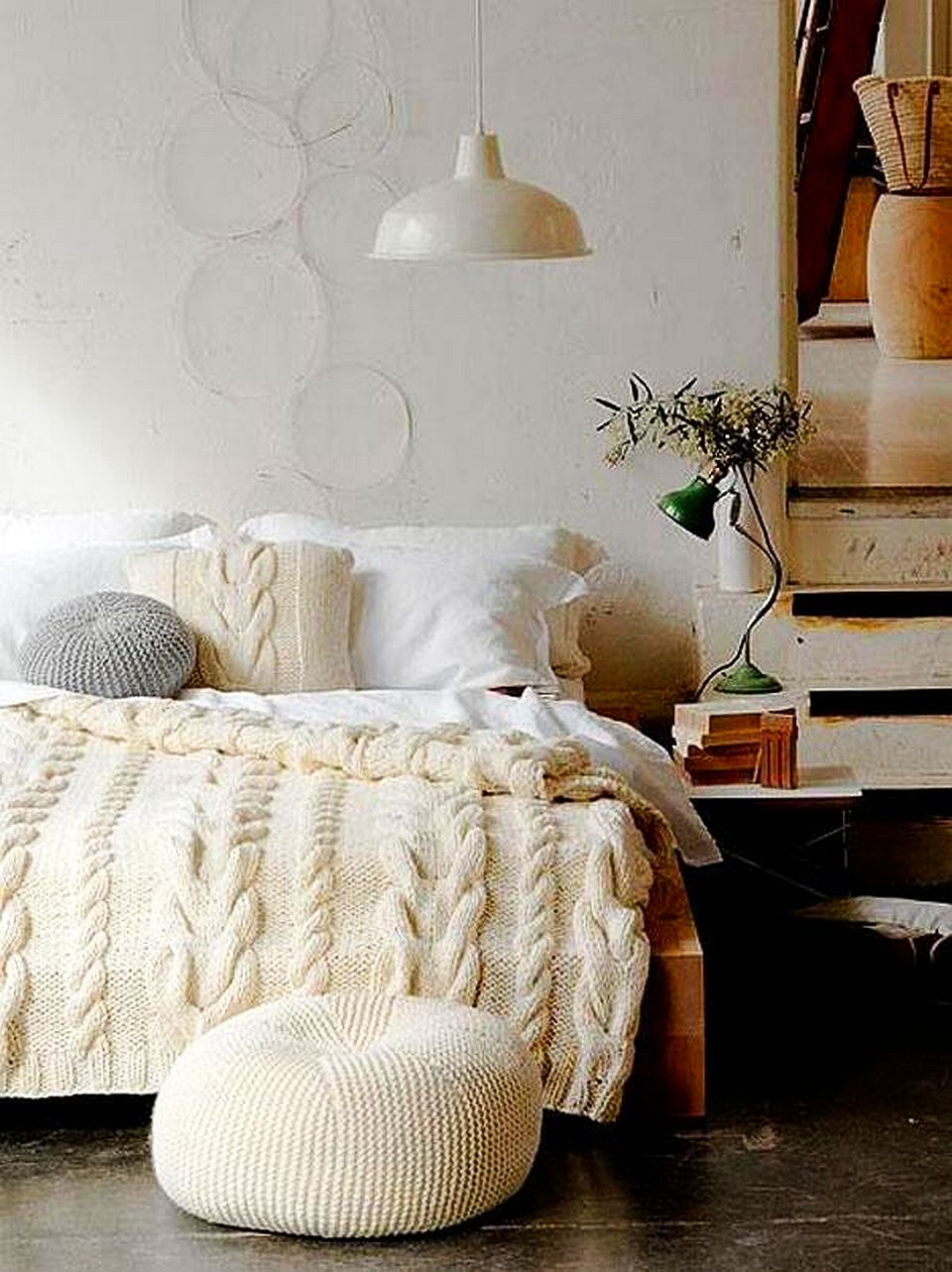 Lucruri care o inspira pe Cristina: cuvertura Cable Knit Bedding, design Busy Being Fabulous