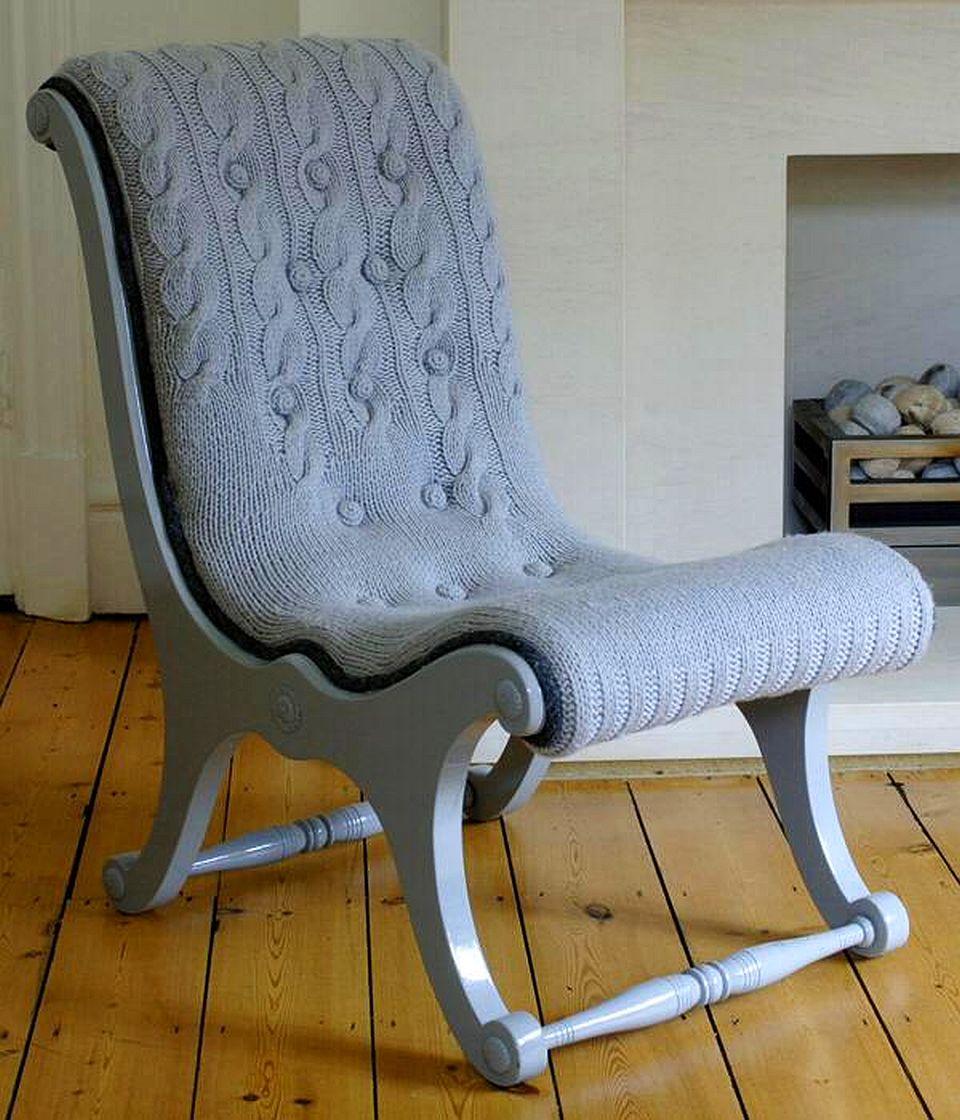 Lucruri care o inspira pe Cristina:  fotoliul Knitted Chairs designer  Melanie Porter