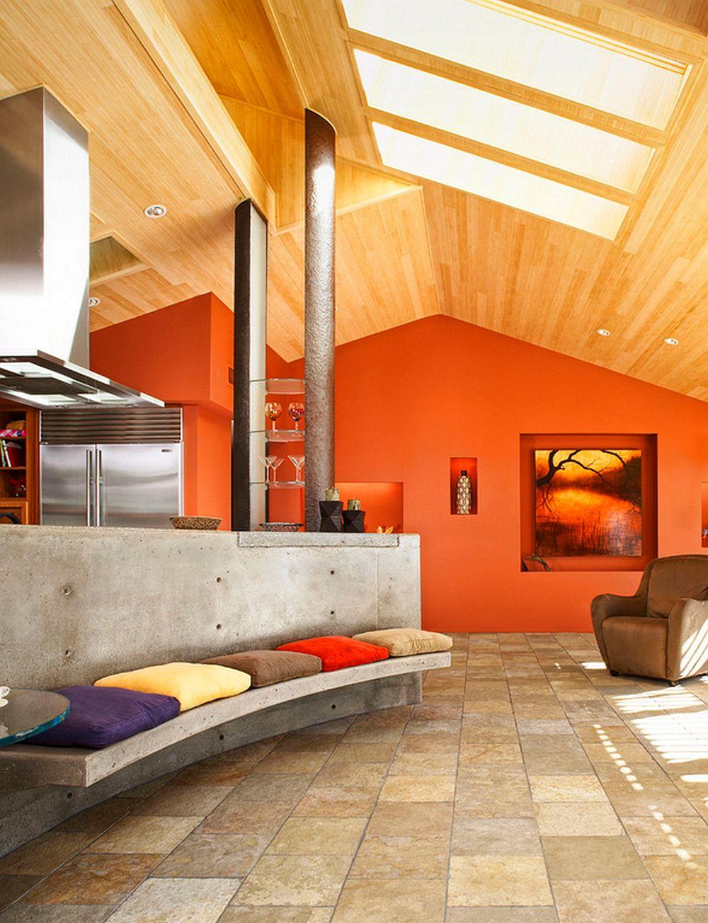 adelaparvu.com despre masa insula din beton cu locuri de sedere, design J Grant Design Studio (1)