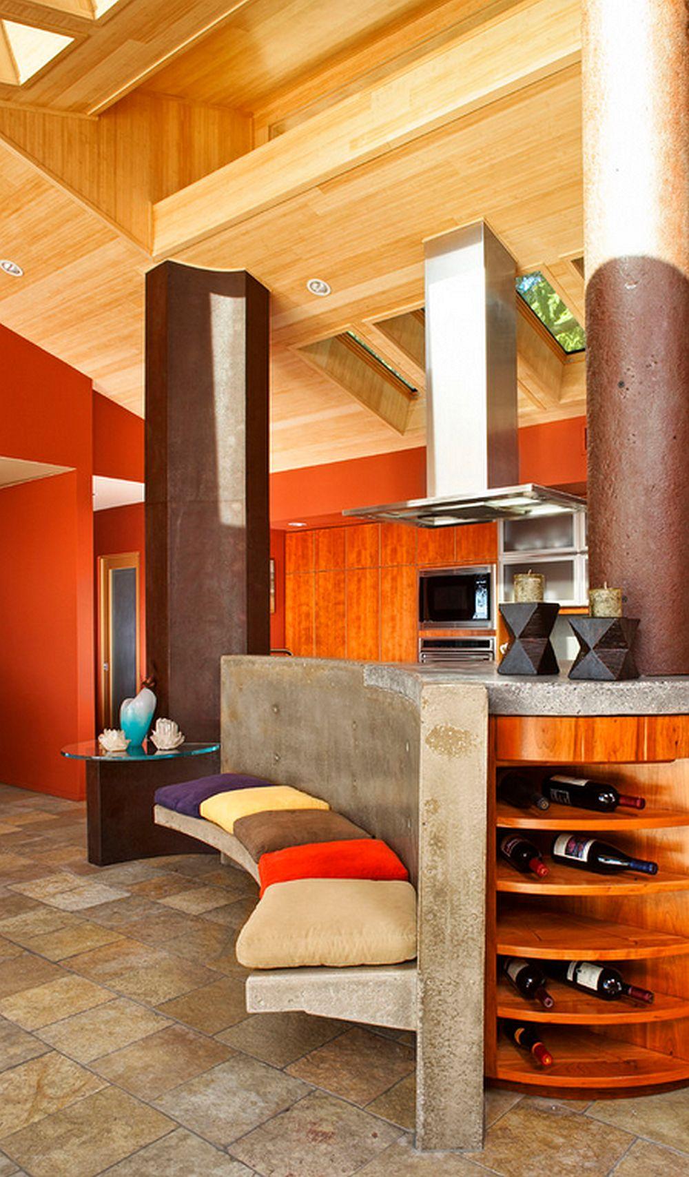 adelaparvu.com despre masa insula din beton cu locuri de sedere, design J Grant Design Studio (3)