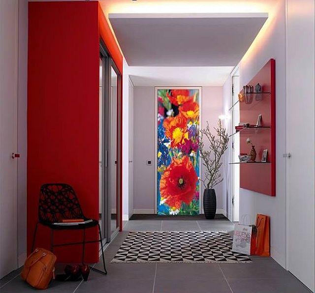 adelaparvu.com despre tapete pentru usa, fototapete pentru mascarea usilor (1)