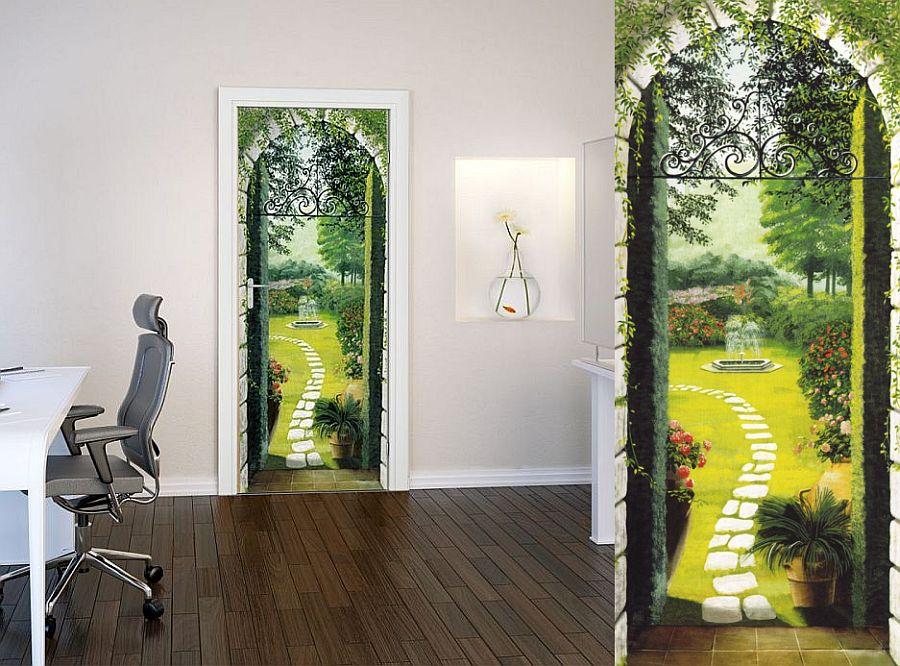 adelaparvu.com despre tapete pentru usa, fototapete pentru mascarea usilor (5)