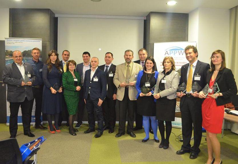 Reprezentatii firmelor premiate la prima editie a concursului APPW, desfasurat la Hotel Cismigiu