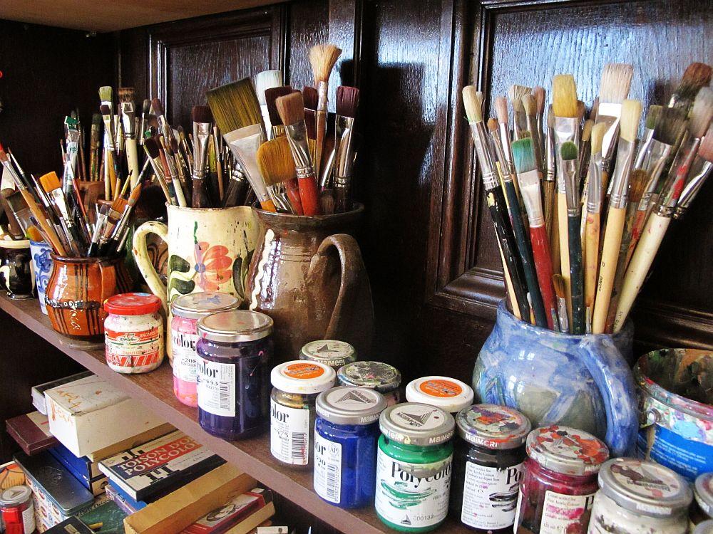 adelaparvu.com despre artistul Mirela Traistaru, atelier de artist (15)