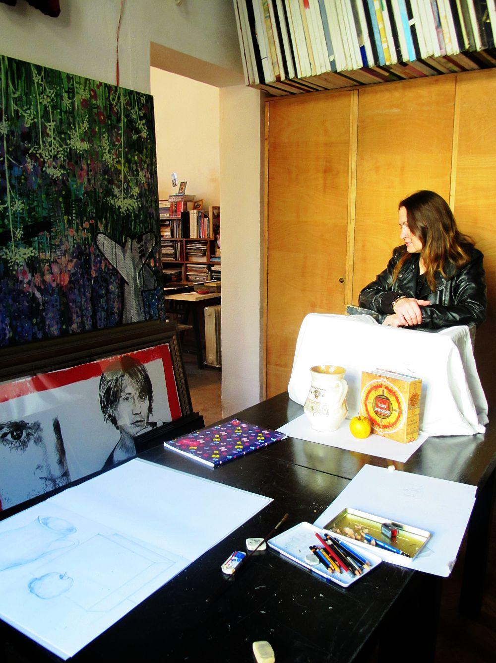 adelaparvu.com despre artistul Mirela Traistaru, atelier de artist (25)