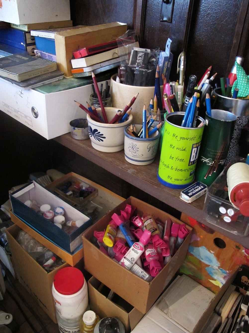 adelaparvu.com despre artistul Mirela Traistaru, atelier de artist (29)