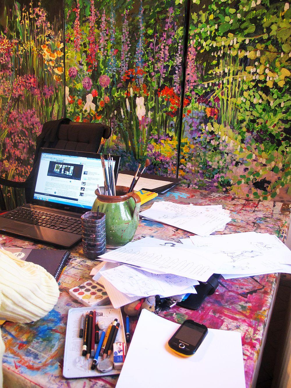 adelaparvu.com despre artistul Mirela Traistaru, atelier de artist (43)