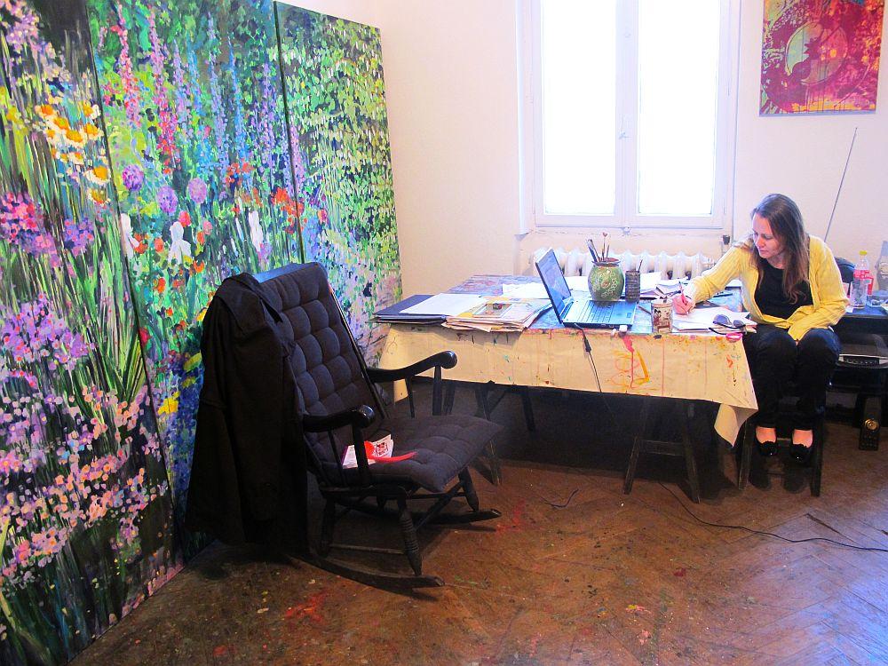 adelaparvu.com despre artistul Mirela Traistaru, atelier de artist (44)