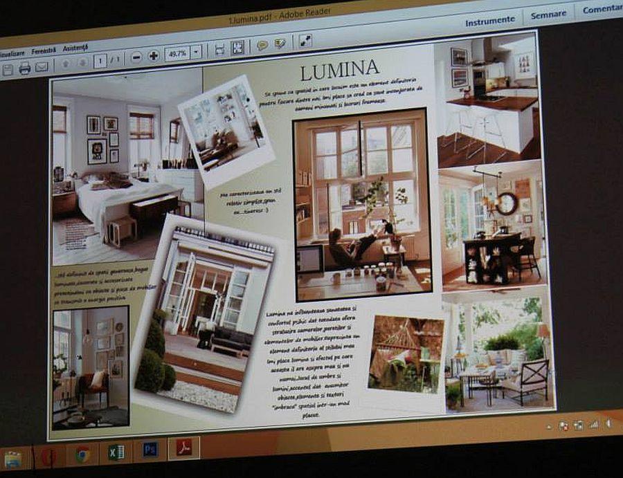 Pregatirea temelor pentru cursul de design interior