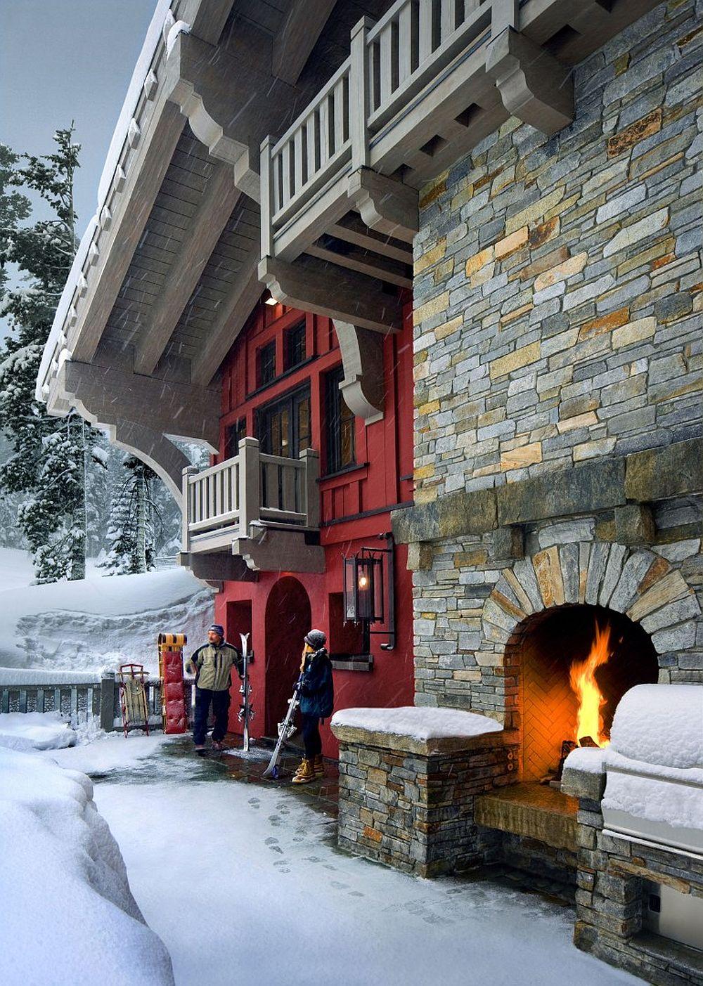 adelaparvu.com despre cabana de munte in SUA, chalet de schi in California, arhitecti John Malick & Associates, Foto David Wakley (11)
