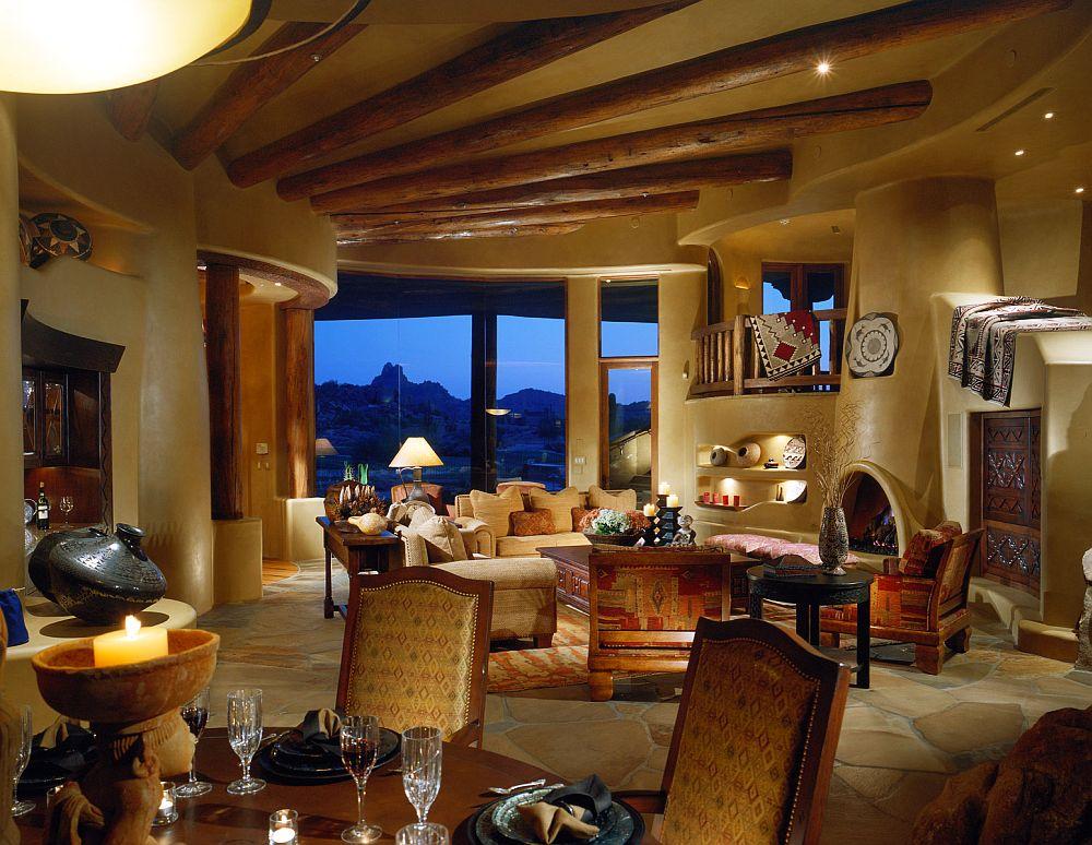 adelaparvu.com despre casa cu arhitectura organica in desert, casa rustica Pinnacle Canyon, arhitect Lee Hutchison  (4)