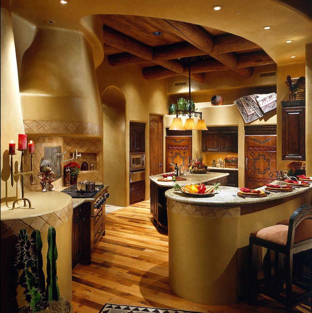 adelaparvu.com despre casa cu arhitectura organica in desert, casa rustica Pinnacle Canyon, arhitect Lee Hutchison  (6)