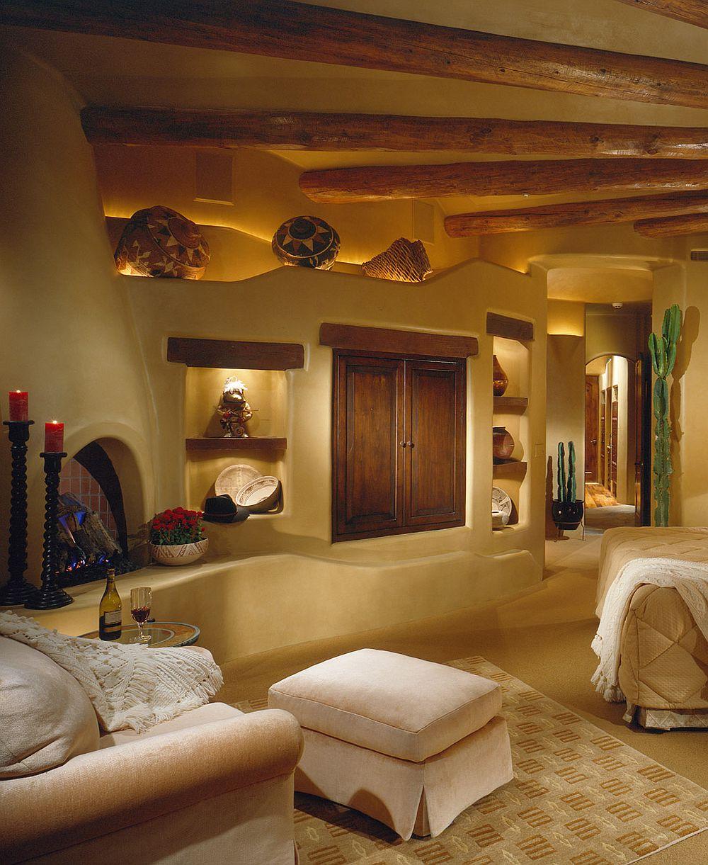 adelaparvu.com despre casa cu arhitectura organica in desert, casa rustica Pinnacle Canyon, arhitect Lee Hutchison  (7)