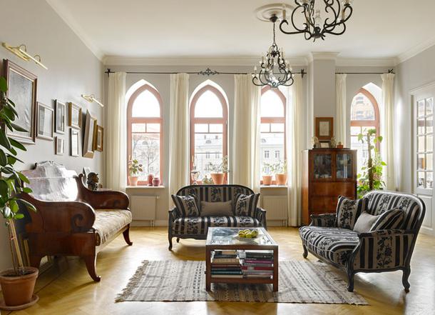 adelaparvu.com despre casa de artist Anna Sokolova, apartament in galben si albastru, locuinta in stil francez (14)