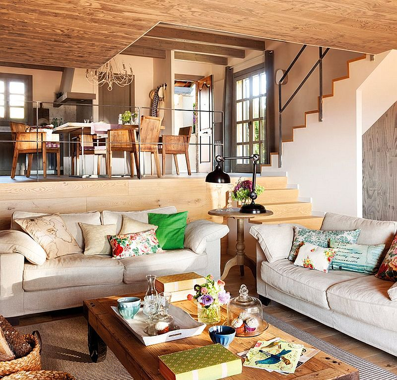 adelaparvu.com despre casa mica pe teren in panta, design interior Marina & Co, Foto ElMueble (4)