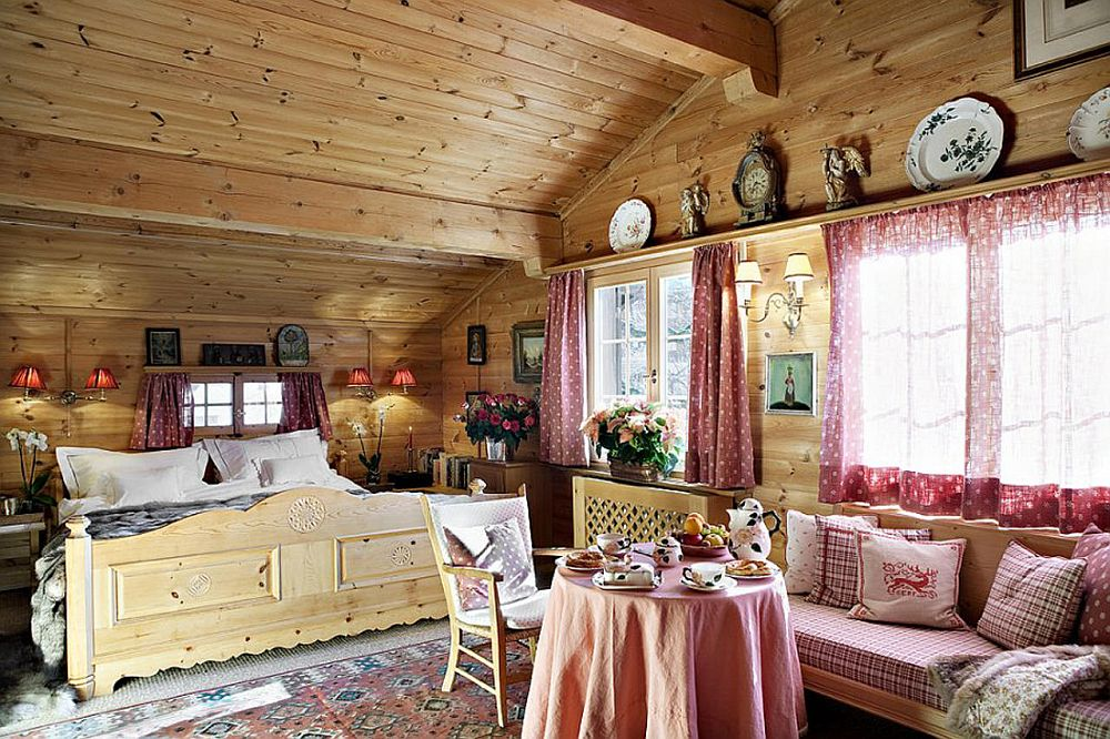 adelaparvu.com despre chalet Maldeghem in Klosters Elvetia, cabana de munte in stil rustic alpin (12)