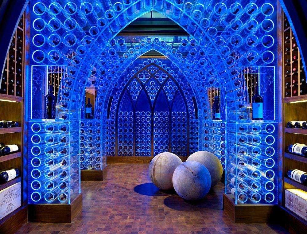 adelaparvu.com despre crama cu mobila transparenta si iluminat LED, design interior Beckwith Interiors Foto Kim Sargent (1)