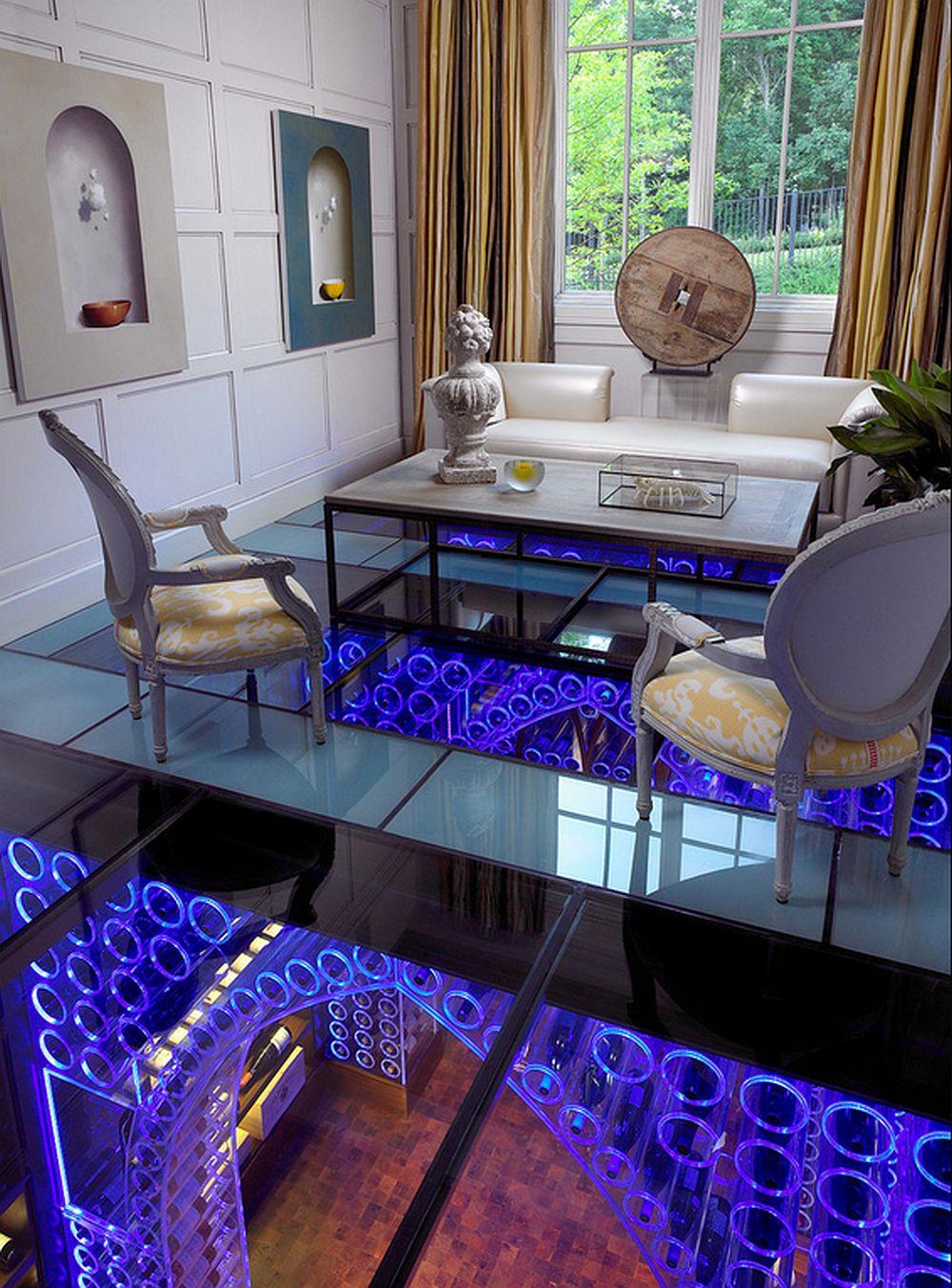 adelaparvu.com despre crama cu mobila transparenta si iluminat LED, design interior Beckwith Interiors Foto Kim Sargent (4)