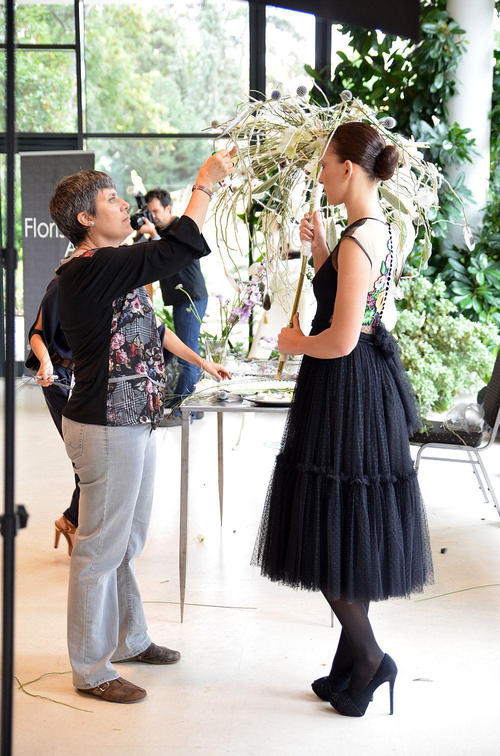 Designul Rosa Valls in cadrul show-ului Fashion&Flowers