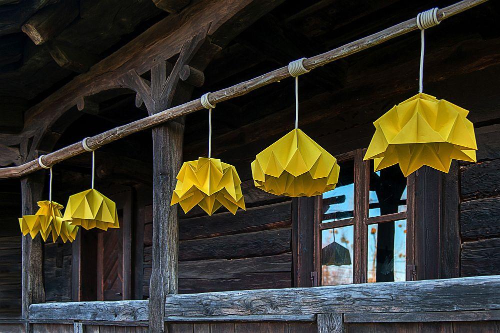 adelaparvu.com despre lampi origami, Happy Lamps, designeri Eliza Balana si Sergiu Tirziu (1)