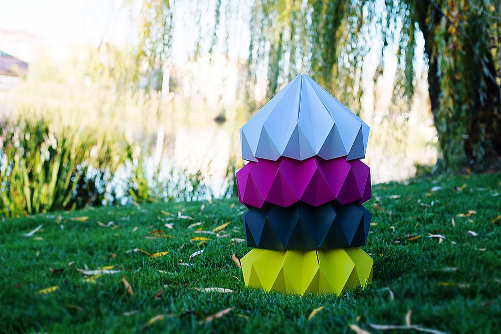adelaparvu.com despre lampi origami, Happy Lamps, designeri Eliza Balana si Sergiu Tirziu (13)