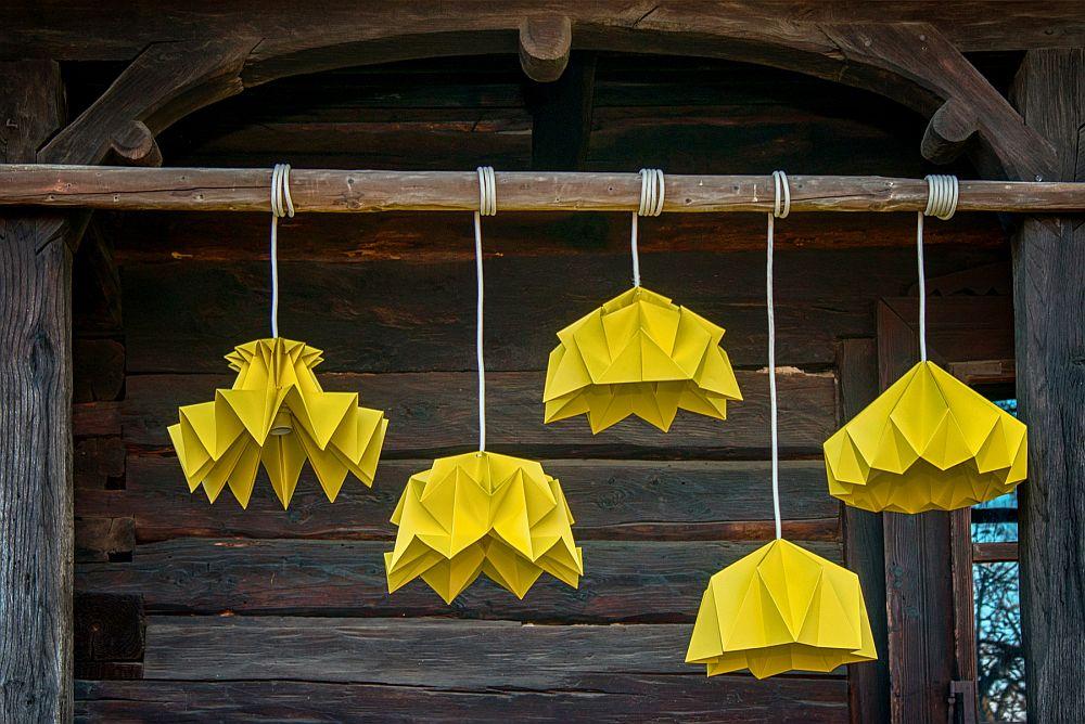 adelaparvu.com despre lampi origami, Happy Lamps, designeri Eliza Balana si Sergiu Tirziu (2)