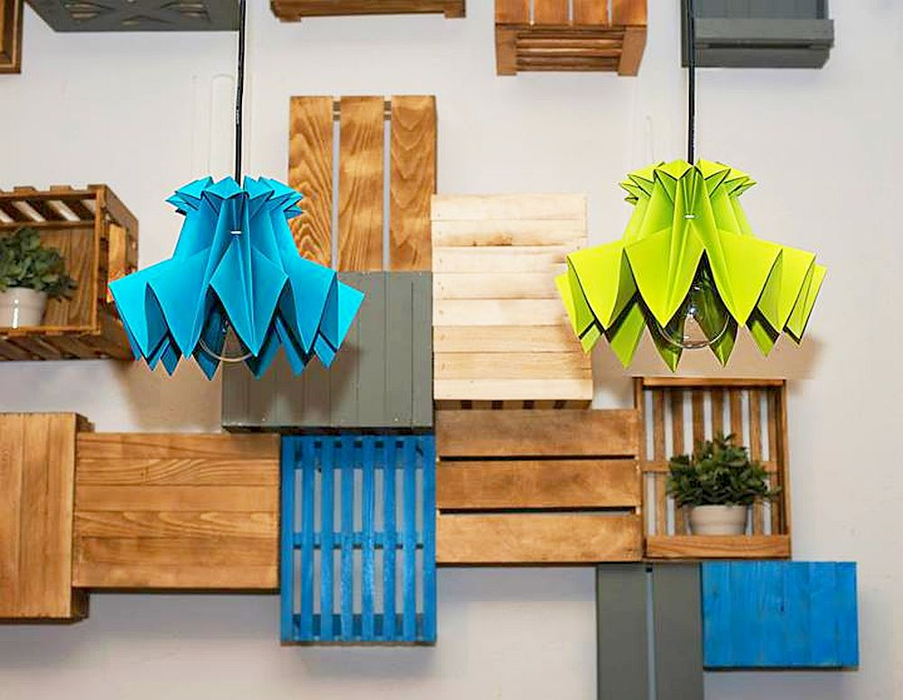 adelaparvu.com despre lampi origami, Happy Lamps, designeri Eliza Balana si Sergiu Tirziu (9)