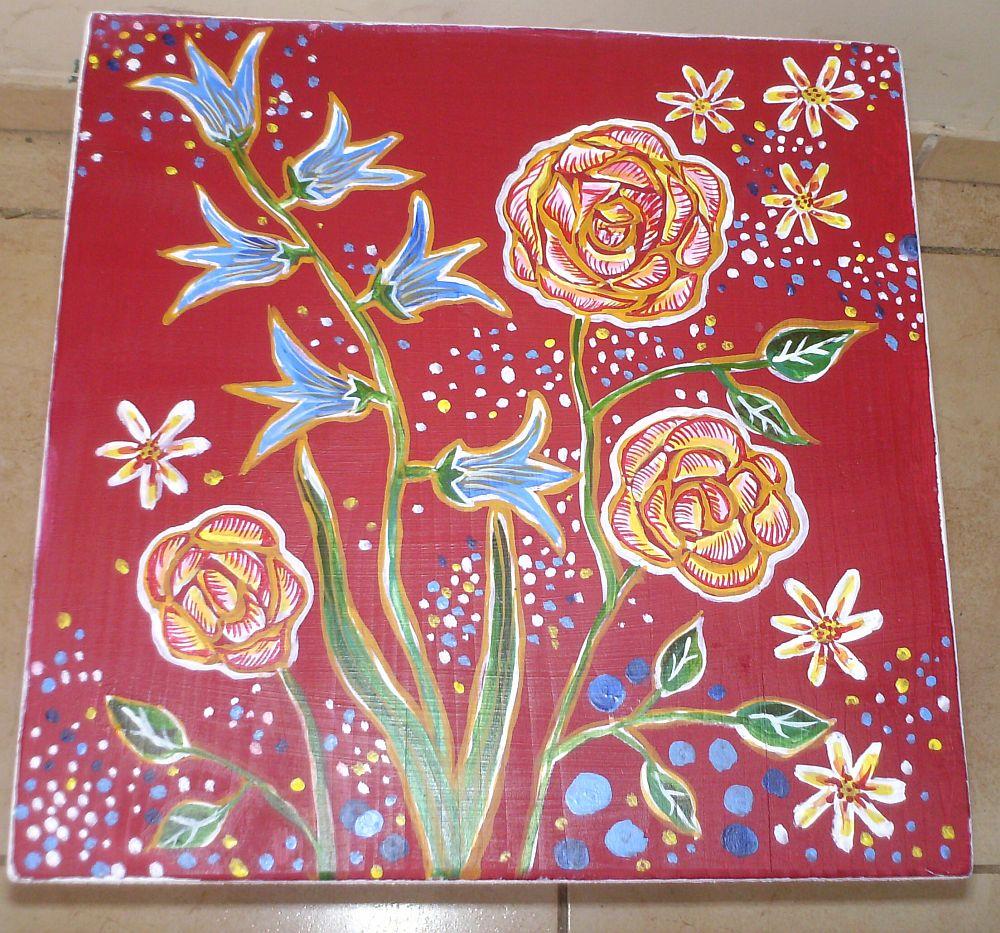 adelaparvu.com despre mobila pictata, cufere, lazi pictate, taburete pictate, artist Agnes Ile (10)