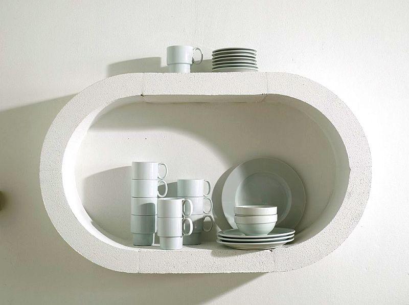 adelaparvu.com despre mobilier fix din BCA, mese insula, rafturi, pereti despartiotori, semineuri cu Ytong Design (18)