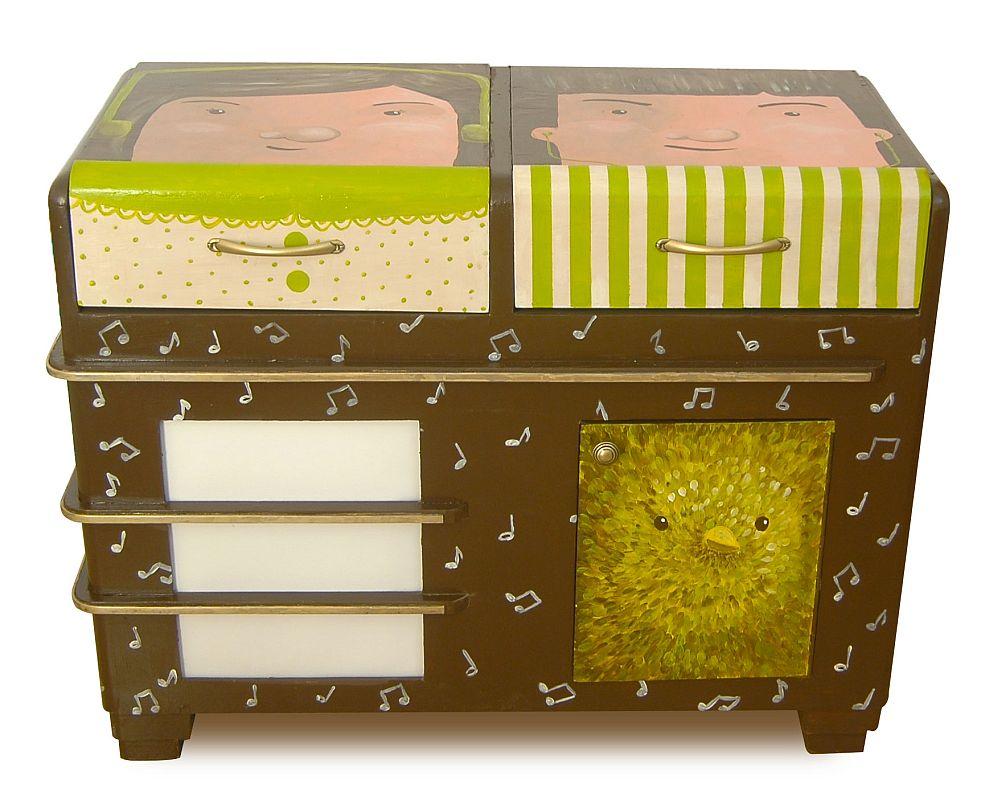 adelaparvu.com despre reciclare creativa, radio vechi transformat in comoda, artist Andra Badea (2)