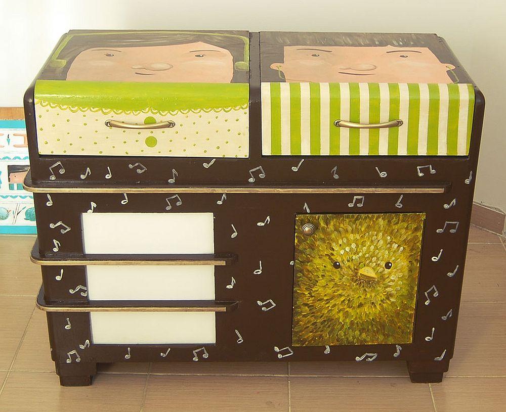 adelaparvu.com despre reciclare creativa, radio vechi transformat in comoda, artist Andra Badea (3)