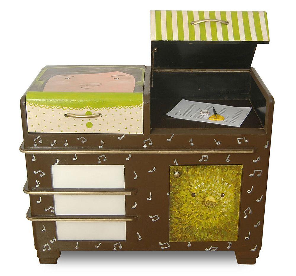 adelaparvu.com despre reciclare creativa, radio vechi transformat in comoda, artist Andra Badea (5)