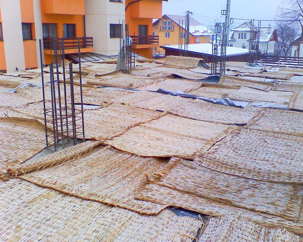 Rogojini din papura pentru constructii