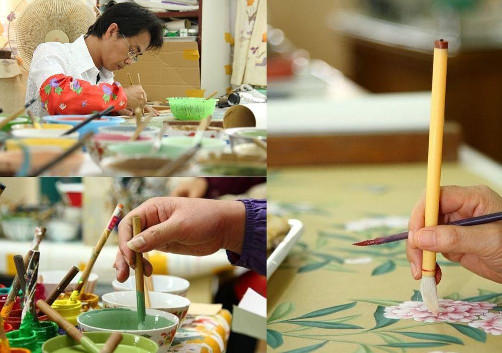 adelaparvu.com despre tapete pictate manual, tapete de matase brodate manual, Foto Yrmural Studio (1)