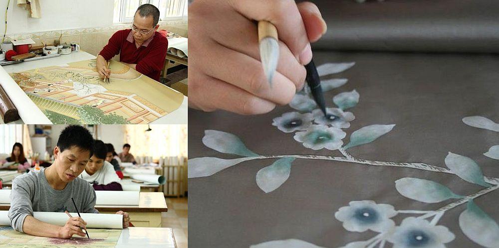adelaparvu.com despre tapete pictate manual, tapete de matase brodate manual, Foto Yrmural Studio (2)