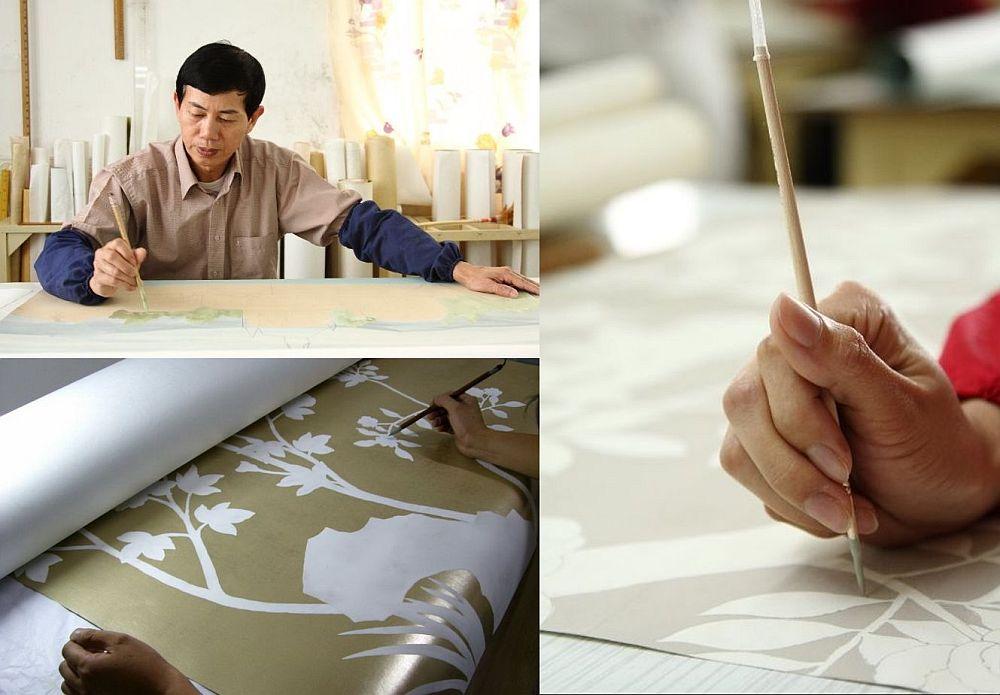 adelaparvu.com despre tapete pictate manual, tapete de matase brodate manual, Foto Yrmural Studio (32)