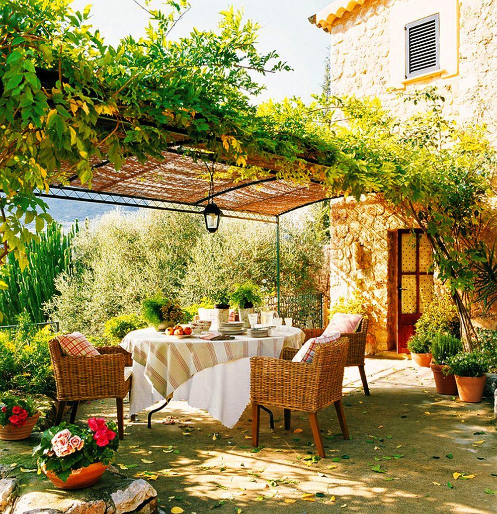 Terase de vis adev rate camere n aer liber adela p rvu - Decorar jardines rusticos ...