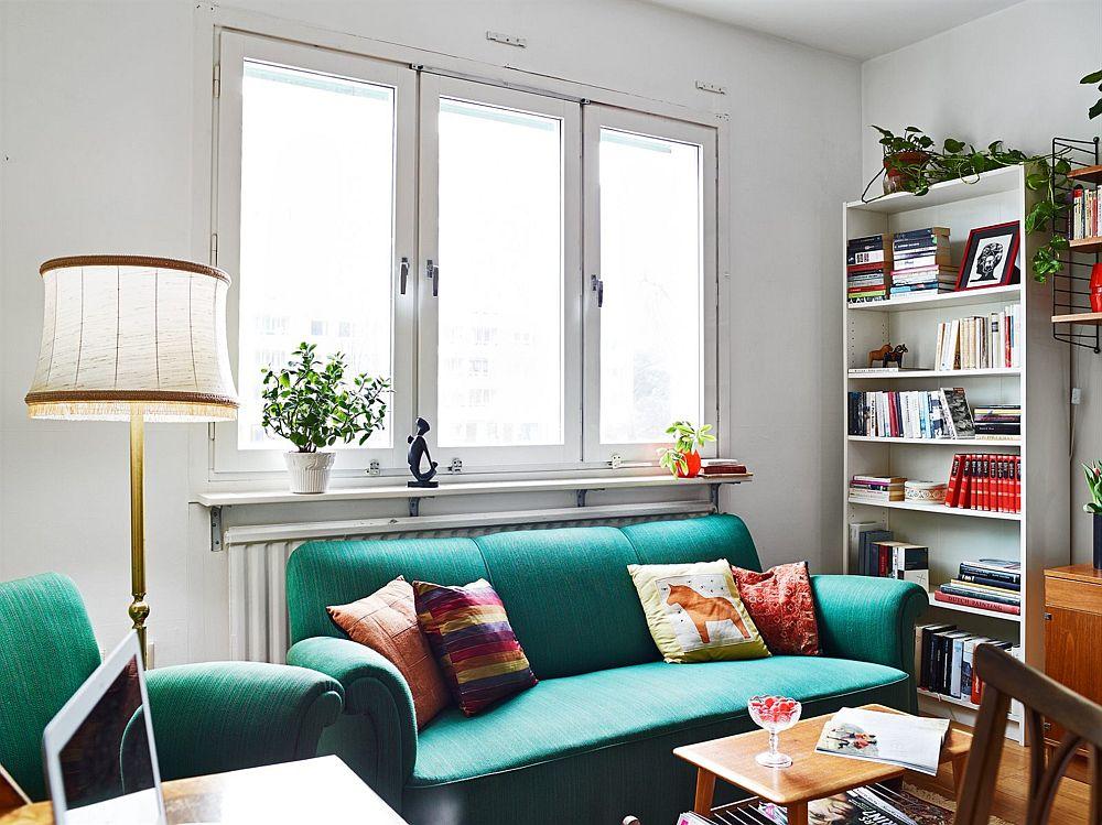 adelaparvu.com, garsoniera cu aer vintage, loc de canapea si pat in aceesi camera, Foto Stadshem (11)