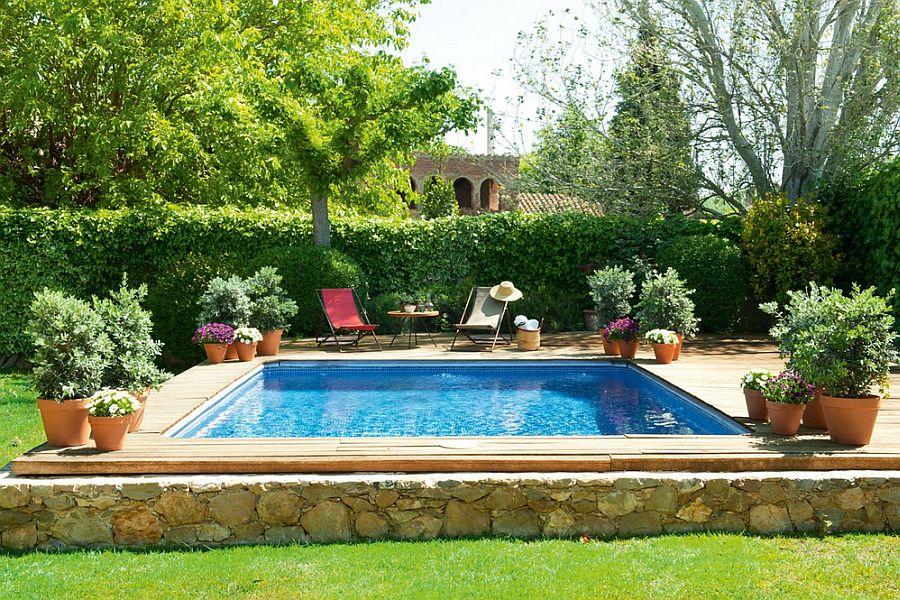 adelaparvu.com hambar transformat intr-o casa rustica, gradina cu piscina mica, arhitect Lluis Auquer, Foto ElMueble (4)